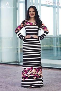 04af8ebd9 Blog da Paola  Look do Dia  Vestido Longo By Rosa Chocolate Vestidos  Viscolycra