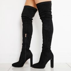 Reach new heights with a pair of knee high boots. We've got the freshest knee high heel boots in a range of styles. Thigh High Boots Heels, Legs For Days, Long Boots, Thigh Highs, Over The Knee Boots, Pairs, Slim, How To Wear, Shoes