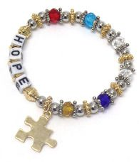 Autism Hope bracelet $2 from every sale goes to charity http://www.sassnfrass.net/#a_aid=SacramentoSass