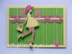 Happy, healthy pregnancy card from With Glittering Eyes blog