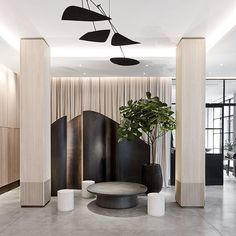 hotel interiors Howard Hotel by Space Copenhagen Hotel Lobby Design, Copenhagen Hotel, Space Copenhagen, Copenhagen Design, Hotel Interiors, Office Interiors, Designer Hotel, Lobby Interior, Interior Columns