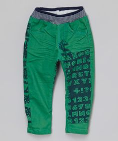 Green Denim Text Jeans - Infant & Toddler by Rock'n Style #zulily #zulilyfinds
