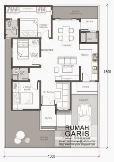 Modern House Designs for 150 Sqm Three Bedroom House Design In 150 Sq M Lot Eplans Porch House Plans, Bungalow House Plans, Dream House Plans, Small House Plans, House Floor Plans, The Plan, Minimal House Design, Indian House Plans, Three Bedroom House Plan