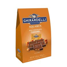 Ghirardelli Chocolate Squares Milk Chocolate And Caramel Oz Bag Ghirardelli Chocolate Squares, Chocolate Cups, Chocolate Caramels, Decadent Chocolate, Chocolate Flavors, Chocolate Recipes, Office Candy Dish, Chewy Granola Bars, Gold Gift Boxes