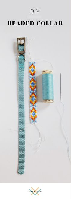 Create a custom beaded pet collar with a bead loom. Get the free DIY pattern at The Drop Stitch!