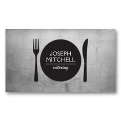 Customizable Business Card for Catering Company or Personal Chef