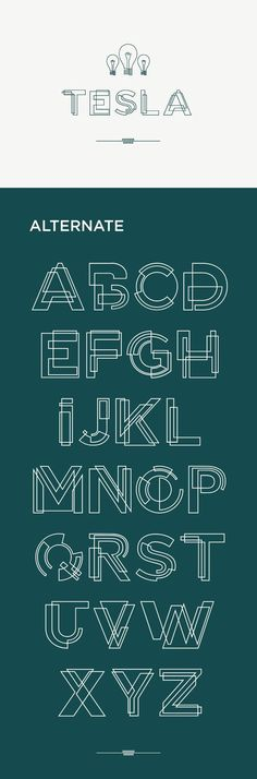 An interesting typeface that combines shapes to convey an approximation of the outlines of letters.