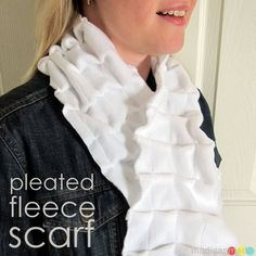 How to sew a pleated scarf from fleece fabric.  A nice change from the plain fleece scarf.