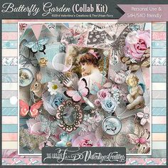 I don't usually go for colors like this but Butterfly Garden by The Urban Fairy and Valentina's Creations is really, really pretty!