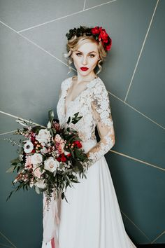 Cupid got us falling for this Valentine's wedding inspiration   Image by Alex Lasota Photography