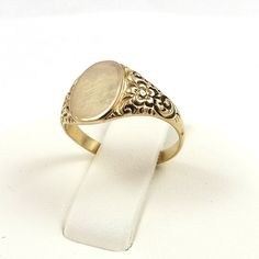 VICTORIAN 10K ROSE GOLD ORNATE SIGNET INITIAL RING Sz 8.75 in Jewelry & Watches | eBay