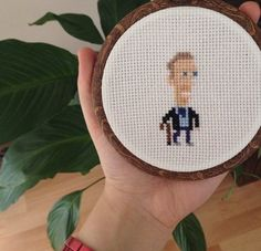 Dr House md cross stitch