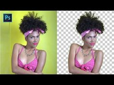 Photoshop Quick Tip: Cut Out Subject from Background in 3 Easy Steps - Refine Hair masking Tutorial - YouTube