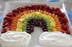 Obst-Regenbogen groß