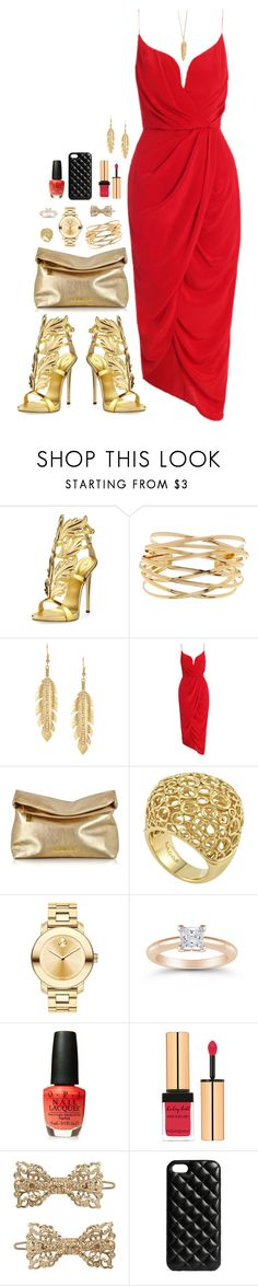 """Cocktails"" by claire8ken ❤ liked on Polyvore featuring Giuseppe Zanotti, 14th & Union, Zimmermann, Michael Kors, Lagos, Movado, OPI, Yves Saint Laurent, Forever 21 and The Case Factory"