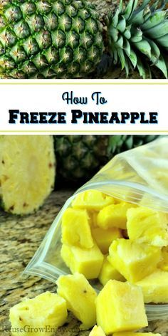Are you asking yourself can you freeze pineapple? The answer is yes you can! This time of year it is on sale and time to stock up. Can You Freeze Pineapple, Frozen Pineapple, Frozen Fruit, Frozen Meals, Freezing Pineapple, Fresh Pineapple Recipes, Eating Pineapple, Freezing Vegetables, Freezing Fruit
