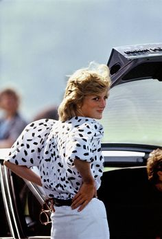 On point at a polo match, 1983.