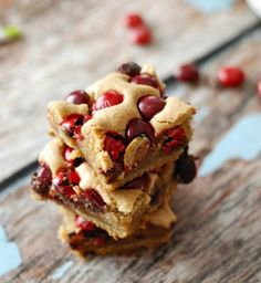 Cherry M&M Blondies.