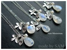 Moonstone necklace http://madebysam.ca/catalogsearch/result/?q=orchid+earrings