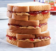Stack up a lunch time winner with Jif® Peanut Butter and Smucker's® Jelly!