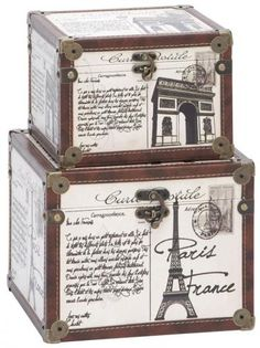 decoratives items from france | La France Boxes - Set of 2