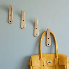 Curved Wooden Coat Hook - storage & organisers