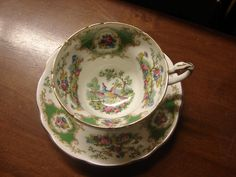 Vintage Foley China Broadway  Cup and Saucer  by Owlsvintage, $15.00