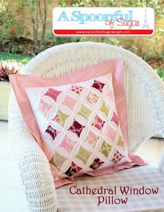 Cathedral Window Pillow PDF Sewing Pattern by aspoonfullofsugar#Repin By:Pinterest++ for iPad#