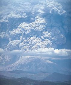 Mt. St. Helens eruption May 18, 1980. 57 people died.