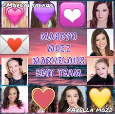 Me and my bestie @Arella Mozz is holding a edit team, u can be one of the girls from the pic above. Comment down if u wanna join ~Mardyn Mozz P.S. Jojo, Kenzie, Maddie, Brynn are taken already