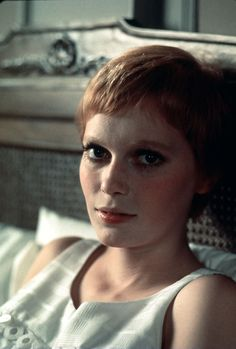 The most buzzed-about hair to ever hit the big screen. Baby Movie, Rosemary's Baby, Mia Farrow, Iconic Movies, Film Stills, Pixie Haircut, About Hair, Natural Makeup, Hair Inspiration