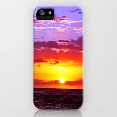 Sunset at Sea 2 - Hawaii iPhone Case by Art-Motiva - $35.00