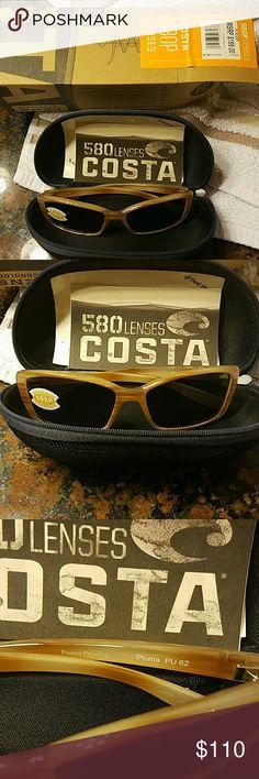 Costa Sunglasses retail  $159 womens Pluma morena gray 580P lenses mauritius costa Accessories Sunglasses