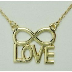 New Gold Love Infinity Necklace