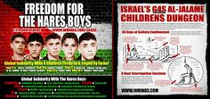 this IMAGE is NOT mine! this IMAGE is NOT mine! this IMAGE is NOT mine! this IMAGE is NOT mine!  Solidarity with 5 Palestinian children - tortured and caged by Israel for a crime that never happened !! Last month in September we organised a highly successful Global Solidarity Action for the Hares Boys in which 11 organisations partnered with us to hold solidarity events in 9 cities across 6 countries including Argentina, Canada, Chile, France, Uruguay and the UK, over a period of 10 days…