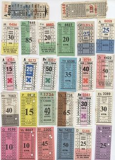 Collection of Penang bus tickets. We used to play with these tickets as children in our make believe buses.