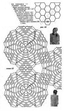 Накидка из шестиугольников крючком. Комментарии : LiveInternet - Российский Сервис Онлайн-Дневников