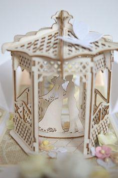 Wedding exploding box Romantic wedding card Wedding | Etsy Wedding Gift Boxes, Card Wedding, Wedding Gifts, Romantic Weddings, Unique Weddings, Exploding Box Card, Baby Girl Cards, Birthday Box, Explosion Box