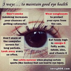 5 ways … to maintain good eye health