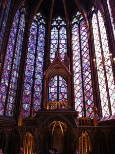 La Sainte-Chapelle in Paris, France:  It's like being in the middle of a jewel and feeling God surround you.