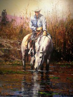 Cowboy Artwork, West Art, Horse Drawings, Le Far West, Australian Art, Equine Art, Horse Art, Native American Art, Photo Art