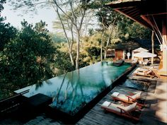Treat yourself to a Balinese bathing ritual, which includes a detoxifying salt scrub, or a heated-river-rock massage.