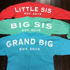 Big/Little/GBig Spirit Jersey for Any Sorority by CampusConnection on Etsy https://www.etsy.com/listing/254859425/biglittlegbig-spirit-jersey-for-any