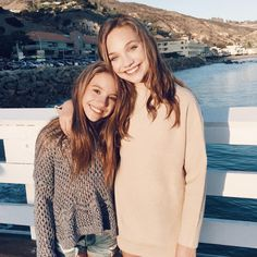 """Maddie posted this sweet picture on a pier by the beach. The sisters look warm in sweaters and the California autumn sun and the caption reads: """"So excited for Thanksgiving!"""" We can just imagine how fun family holidays are in the Ziegler house. These talented sisters have to be the best to spend the holidays with! Twitter: @maddieziegler Instagram: @maddieziegler Photo: Maddie Ziegler/Instagram"""