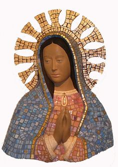 Our Lady of Guadalupe mosaic sculpture from Catholic Sacred Art