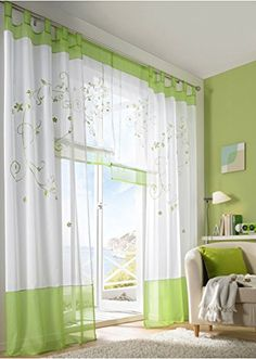 New Arrival Printed Plant Window Curtain Beautiful Pastoral Curtain for Home Cafe Window Decor ** Read more  at the image link. (Note:Amazon affiliate link)