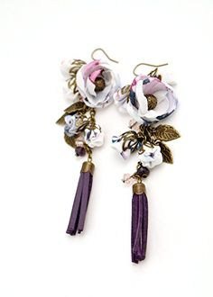 """Buy """"KIM"""" Snake print dangle and drop earrings for women and young ladies-by fashion jewelry designer Ana Popova https://www.amazon.com/KIM-earrings-ladies-designer-Ana/dp/B01F0521AG"""