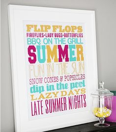 Summer Subway Art Printable from Eighteen25