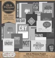 bad day project life journal cards - Google Search