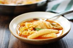 Soupy Tteokbokki (Spicy Braised Rice Cake) – Korean Bapsang – The Best Asian Recipes Ramen Recipes, Asian Recipes, Cooking Recipes, Ethnic Recipes, Rice Cake Soup, Rice Cakes, Spicy Rice, Spicy Soup, Tteokbokki Recipe